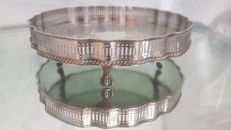 Vintage silver plated on copper gallery tray,