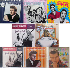 Rock & Roll Trio, Johnny Burnette, Dorsey Burnette, Hank C. Burnette on 5 LP's and 3 CD's