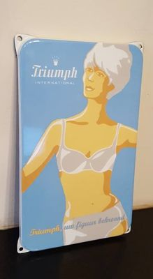 Enamel advertising sign Triumph International - undergarment
