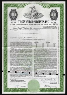 USA - 10x Airline & Aviation Company Stock & Bond Certificates - 1961-1992 (Lot of 10)