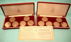 Russia - 2 sets each 6 x 1 Rouble - Moscow Olympic Games 1980