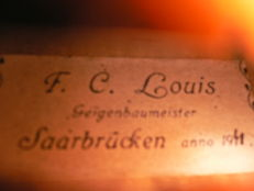 Nice, undamaged violin by J. Louis, Saarbrucken, 1941