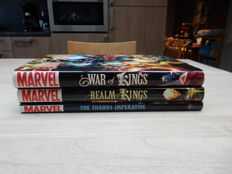 Marvel 3 x HC With Dust Cover - War of Kings / Realm of Kings / Thanos Imperative ; Marvel 2009-2011