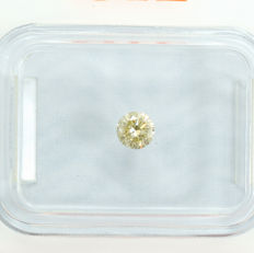 Natural Fancy Greenish Yellow Diamond Si2 - 0.20 ct