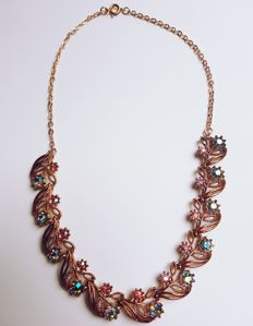 "Necklace, ""Czech Republic, circa 1960 - 1970"", probably gold-plated (rolled gold)"