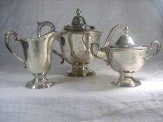 Gorham Sheffield tea set, early 1900s