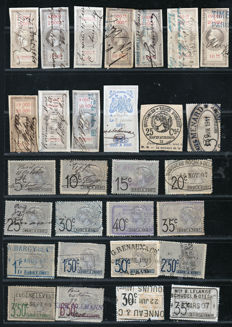 France 1870/1911 - Bills of exchange, receipt stamps and postal parcels