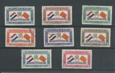 Curaçao 1941/1942 - Airmail Prince Berhard Fund and Queen Wilhelmina images - NVPH LP18/25 + LP26/40