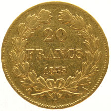 France - 20 Francs 1835 A - Louis Philippe I - gold