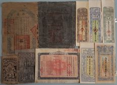 China - 10 bank notes of the China Empire, Soviet and Republic - 1900s - No guarantee of authenticity!
