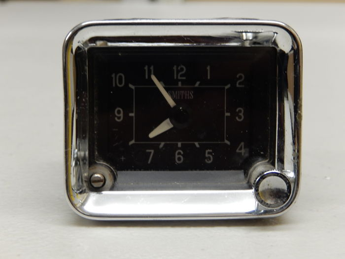 Vintage British Smiths Auto Car Clock Timepiece For Dashboard Fitting Classic Car Square Oblong Shape