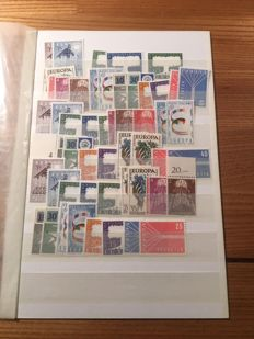 Europa Stamps 1957 - All issues of all participating countries in 10 copies