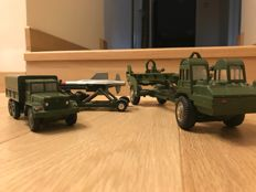 Corgi Major Toys - Scale 1/48 - Lot of 3 military vehicles Nos.1113, 1117 and 1118