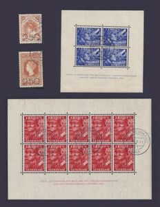 The Netherlands 1920/1942 - Clearance emission and Legion sheetlets - NVPH 104/105 + 402B/403B