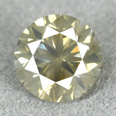 Diamond - 1.51 ct, NO RESERVE PRICE Natural Fancy Greenish Yellow Si1