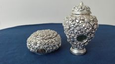 Silver 925 amphora and jewellery box - In rolled silver 925