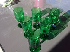 Green vintage glasses - 1960s/70s France