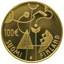 Finland - 100 Euro 2007,  90th Anniversary of Finland's Independence, in capsule - gold