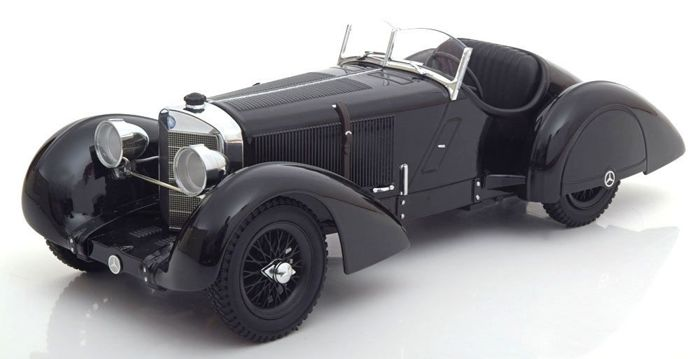 KK Scale - Scale 1/18 - Mercedes Benz SSK Count Trossi Black