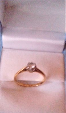 Vintage 18 ct Gold & Diamond  ( 0.20 CT) Set Ring