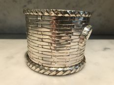 Italian silver plated bottle holder, 1980
