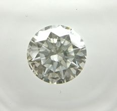 0.83 ct Round cut diamond F SI2  -No Reserve