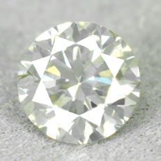 Diamond - 0.69 ct, NO RESERVE PRICE - Natural Fancy Light Grayish Yellow Si2