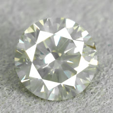 Diamond – 0.54 ct, Natural Fancy Light Greyish Yellow