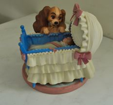 "Disney Walt - Statuette WDCC - Lady and the Tramp and cradle - ""Welcome little darling"" (2003)"
