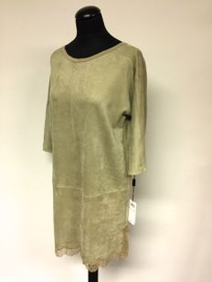 Marc Cain Collection - dress in velour leather optic - never worn - with tag