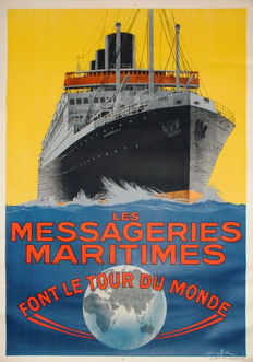 Sandy Hook - Les Messageries Maritimes - um 1930