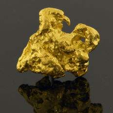 Gold nugget natural - 9 x 8 x 3 mm -  5.9 ct.