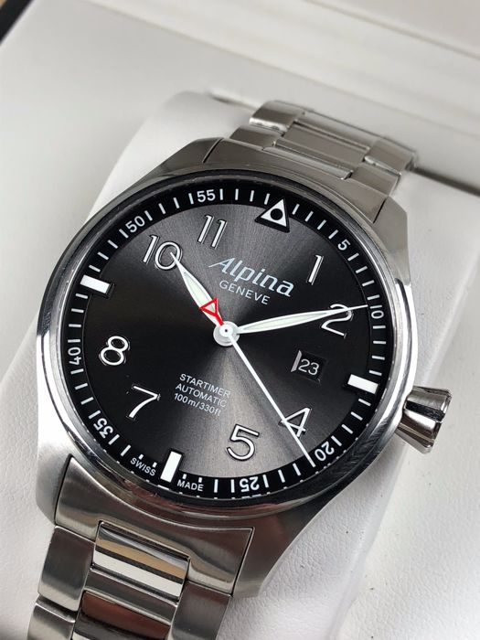 Alpina Startimer Pilot Sunstar Grey Automatic Limited Edition - Alpina startimer