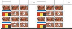 The Netherlands 2000 – European Championship Football – NVPH 1888/1889 in blocks.