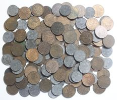 The Netherlands - 2½ cents 1941 bronze (100 x) and zinc (50 x) Wilhelmina (150 pieces in total)