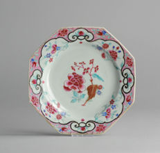 Top Quality & Rare! 18c Qianlong Famille Rose Porcelain Plate Chinese Qing Rare - China