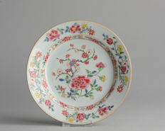 Top Condition & Beautiful! Qianlong Famille Rose Porcelain Plate Chinese - 18C