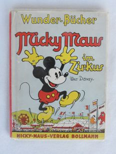 Disney, Walt - Pop-Up Wunder-Bücher - Micky Maus im Zirkus - hc - first edition (30s)