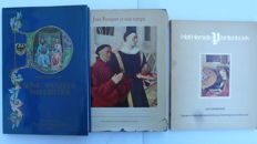 Book illumination; lot with 3 editions on miniatures, manuscripts and devotion prints - 1947/1983