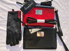 Laimböck - 2 shoulder bags / clutches with matching gloves