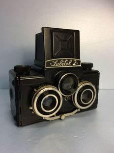 Stereo camera Lubitel 2 / horizontal version with spirit level / USSR