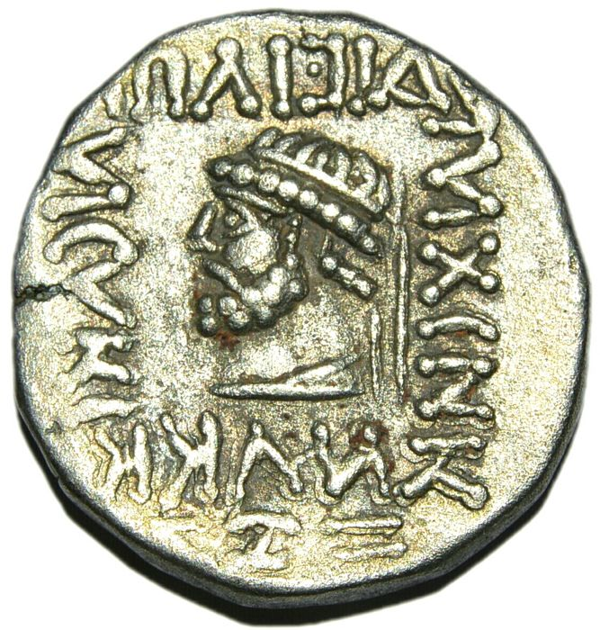 Ancient East - Persia. Parthia Kamnaskires V. Circa 54/3-33/2 BC. AR Tetradrachm. Seleukeia on the Hedyphon mint