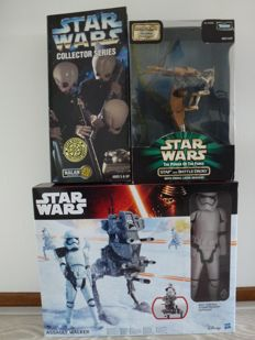 Star Wars - Kenner - 3 x star wars figures - 33/ 20 cm - 1997/2015 - Nalan Cantina Band, Stap and Battle Droid, Stormtrooper