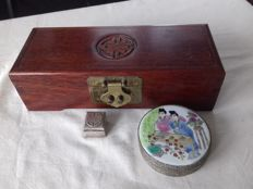 Lot of 3 Chinese jewelley boxes - China - end of 20th century