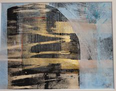 Nadine Fievet - 'Trame de la conscience' - Acrylic on chinese offering paper - signed - 2015