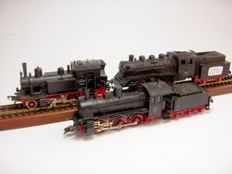 Fleischmann H0 -  Various numbers - A lot with 3 steam locomotives