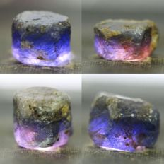Nice collection of unheated/no treatment sapphire crystals - 74,25ct (4)