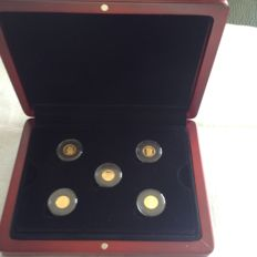 """Germany - Collection 25 Mark """"Great Germany"""" - Gold 999.9/1000"""