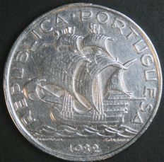 Portugal Republic – 10 Escudos 1932 – Silver