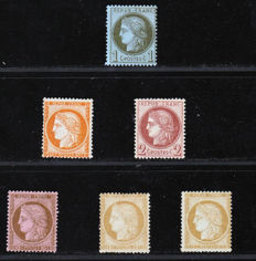 France 1870/1873 - Selection of Ceres including signed Calves - between Yvert n° 38 and 59